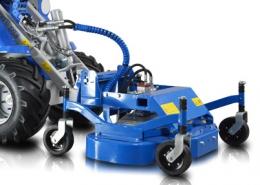 Mini excavator lawn mower
