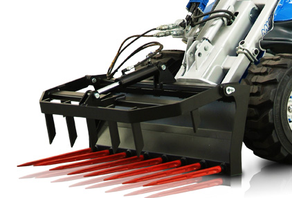 silage fork attachment for mini loader multione