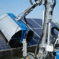Multione-solar-panel-washer for mini loader