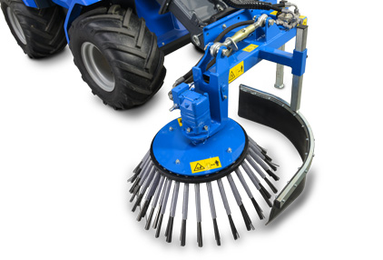 mini excavator weed brush