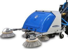 Mini loader sweeper attachment
